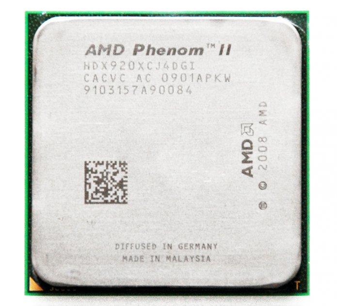 Процесор AMD Phenom II X4 920 4 Ядра, 2.8 GHz, sAM3 / AM2+, Tray ( HDX920XCJ4DGI ) Б/У - зображення 1