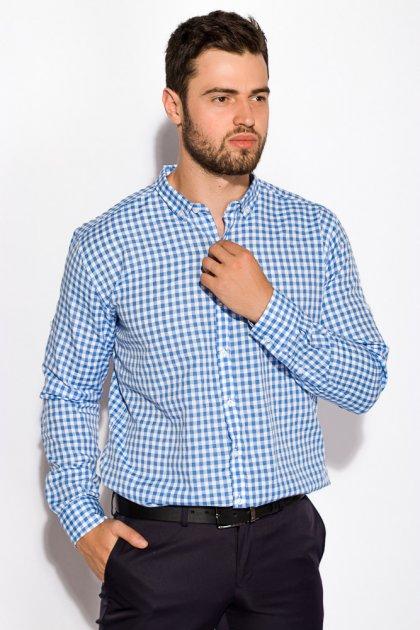 Рубашка Time of Style 511F037 S Бело-голубой - изображение 1