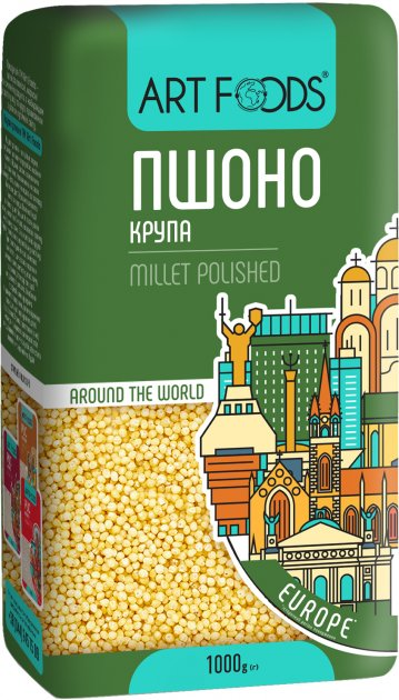 Пшено Art Foods 1 кг (4820118990354_4820191590915) - изображение 1