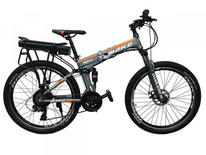"""Електровелосипед складаний МАЦІ 36V 12Ah 500W 26"""" / рама 17"""" сіро-помаранчевий - зображення 1"""