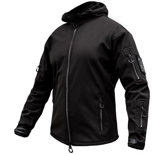 Куртка SoftShell URBAN SCOUT BLACK. XXL - изображение 1