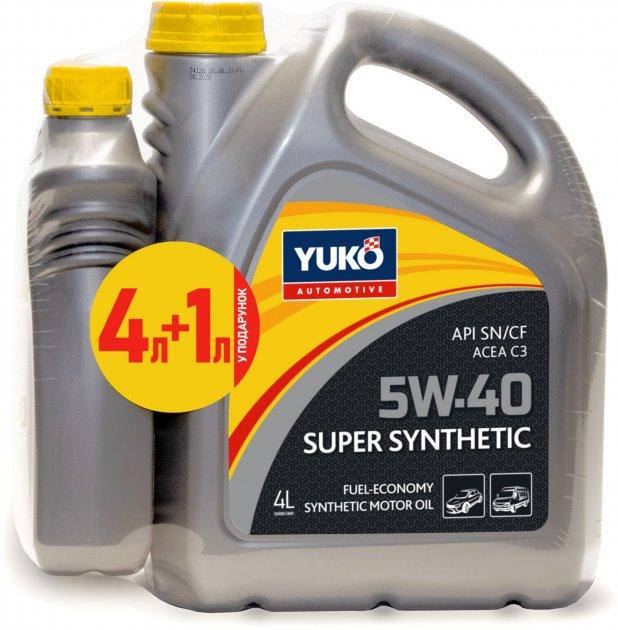Моторна олива Yuko Super Synthetic 5W-40 4 л + 1 л (4820070244861_stock) - зображення 1