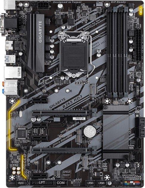 Материнская плата Gigabyte B365 HD3 (s1151, Intel B365, PCI-Ex16) - изображение 1