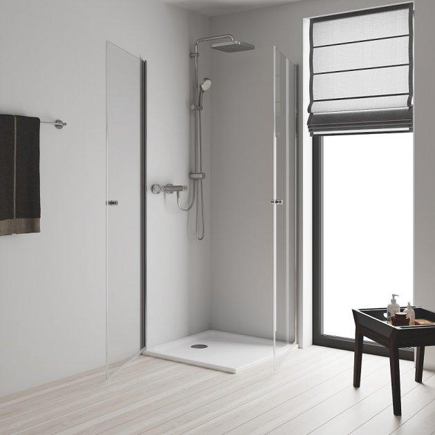 Cмеситель для ванны GROHE Grohtherm 800 34567000 с душевым гарнитуром Tempesta Cosmopolitan 250 Cube 26694000