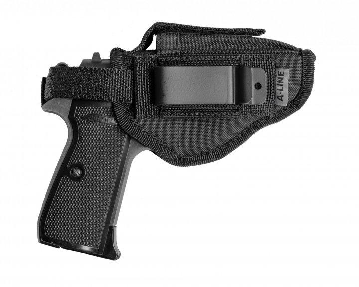 Поясная внутрибрючная кобура A-LINE для пистолетов малых габаритов черная (Т5) - изображение 1