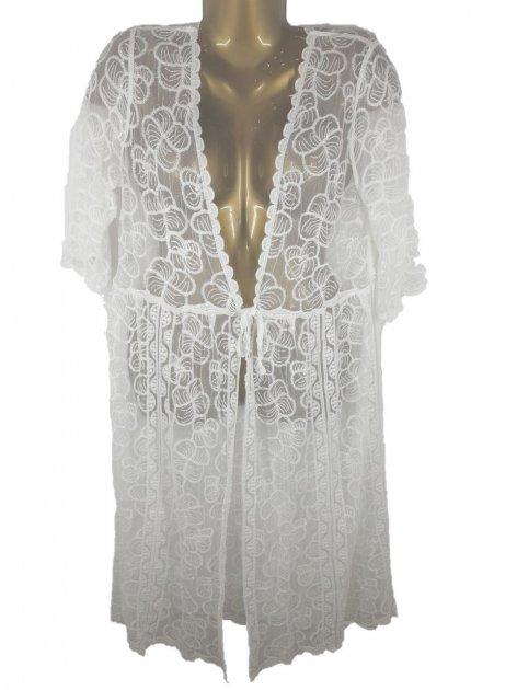 Пляжный халат с гипюром Z. Five 9432 L белый - изображение 1