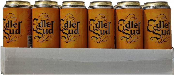 Упаковка пива Edler Sud светлое фильтрованное 5.4 % 0.5 л х 24 шт. (4260422849465G) - изображение 1