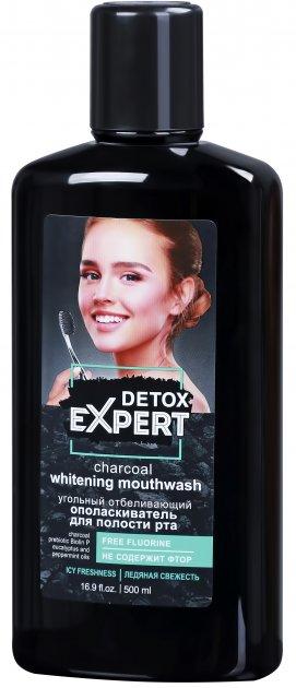Угольный ополаскиватель для полости рта Detox Expert отбеливающий 500 мл (4823080005064) - изображение 1
