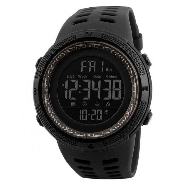 Наручные часы Skmei Amigo 1251 Черные с коричневым - изображение 1