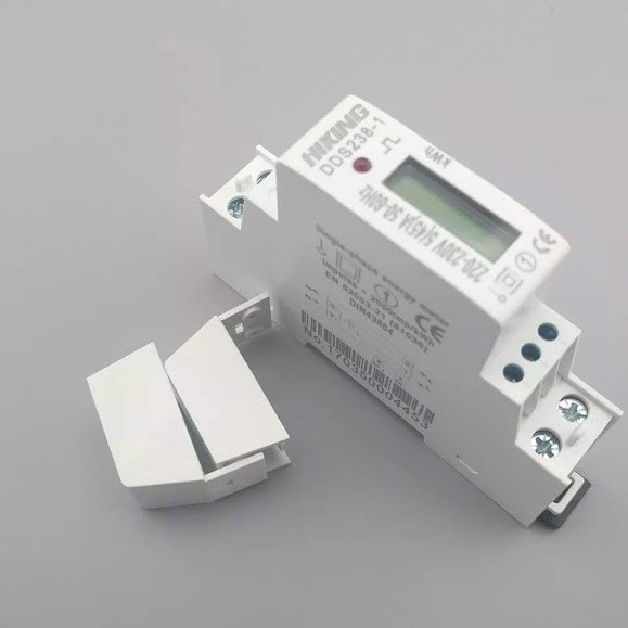 Счетчик электроэнергии однофазный DDS238-1 на дин рейку 220В 45А DIN - изображение 1