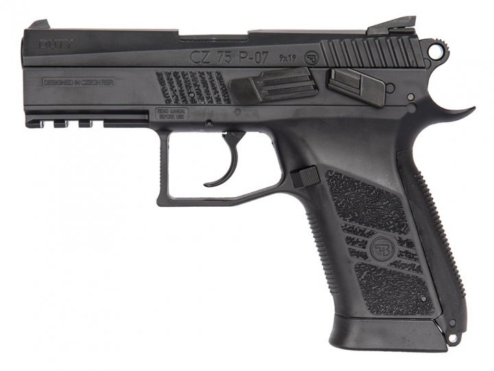 Пістолет пневматичний ASG CZ 75 P-07 Duty. Корпус - метал. 23702519 - зображення 1