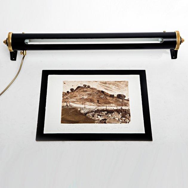 Підсвічування для картин і дзеркал для вітальні, спальні, офісу, кафе, передпокою, ванної 3325 алюміній чорний/сірий коричневий PikArt - зображення 1