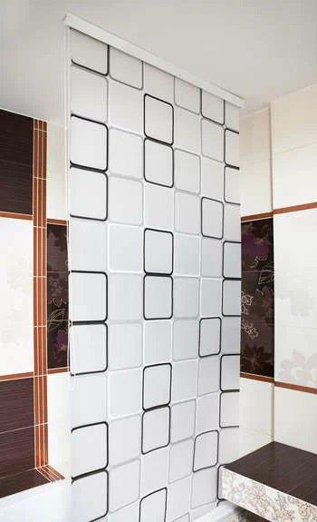Шторка для ванной Bisk Peva Malta 2 180х200 + кольца (06894)