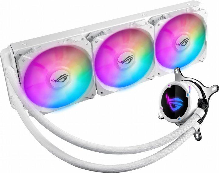 Система рідинного охолодження Asus ROG Strix LC 360 RGB White Edition Aura Sync (ROG-STRIX-LC-360-RGB-White) - зображення 1