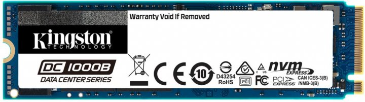 Kingston DC1000B 480GB NVMe M.2 2280 PCIe 3.0 x4 3D NAND TLC (SEDC1000BM8/480G) - изображение 1