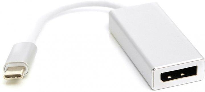 Перехідник PowerPlant USB Type-C 3.1 Thunderbolt 3 (M) — DisplayPort (F) 4K 0.15 м Сріблястий (CA911851) - зображення 1