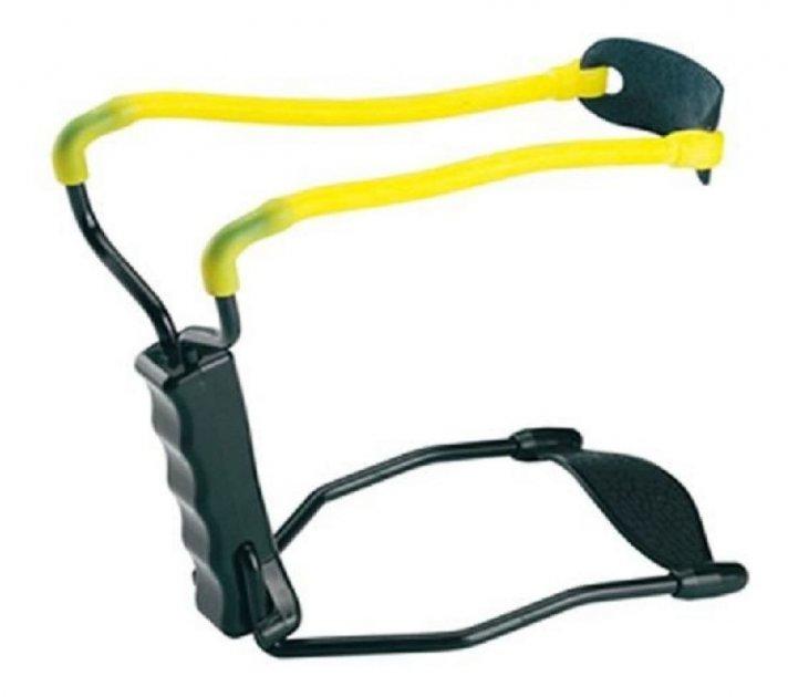 Рогатка Man Kung MK-T1 с упором ц:черный/желтый. 1000078 - изображение 1