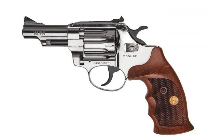 Револьвер під патрон Флобера Alfa mod. 431 нікель/дерево. 14310058 - зображення 1