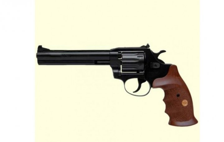 Револьвер під патрон Флобера Alfa mod.461 ворон/дерево. 14310052 - зображення 1