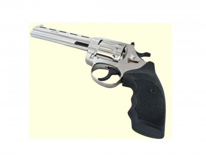 Револьвер під патрон Флобера Alfa mod.461 нікель/пластик. 14310053 - зображення 1