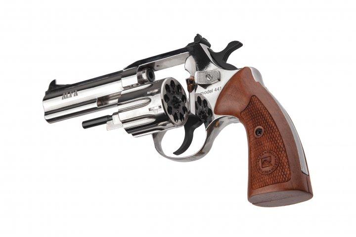 Револьвер під патрон Флобера Alfa mod.441 Classic нікель/дерево. 14310050 - зображення 1