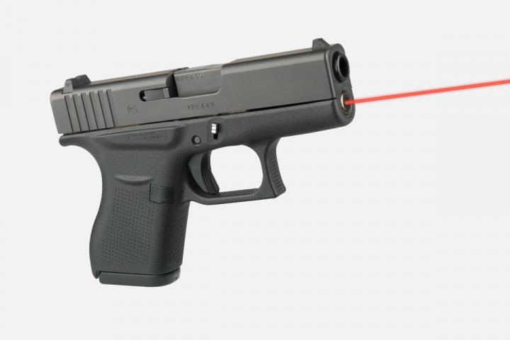 Целеуказатель LaserMax для Glock43 червоний. 33380016 - зображення 1