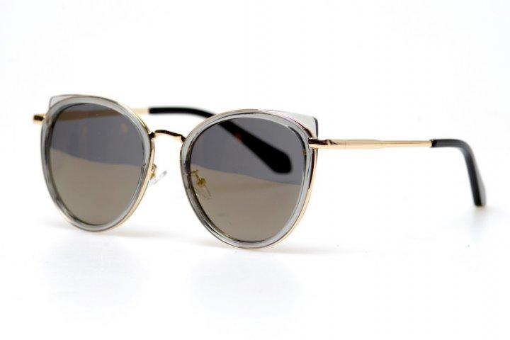 Женские солнцезащитные очки GlasseS с поляризацией, цвет линзы коричневый, цвет оправы бежевый (F_148111) - изображение 1