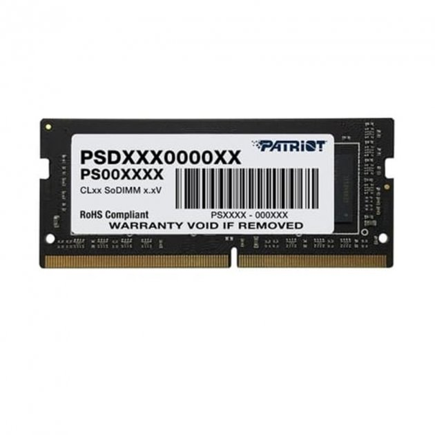 Модуль пам'яті SO-DIMM 8GB/2400 DDR4 Patriot Signature Line (PSD48G240081S) - зображення 1