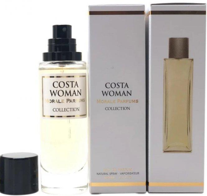 Парфюмированная вода для женщин Мораль Парфюм Costa Woman версия Lacoste Pour Femme 30 мл (3721754983193) - изображение 1