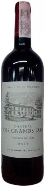 Вино Chateau Des Grands Jays 2016 красное сухое 0.75 л 13.5% (3303292907840) - изображение 1