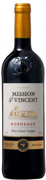 Вино Mission St Vincent красное сухое 0.75 л 12% (3423290193660) - изображение 1