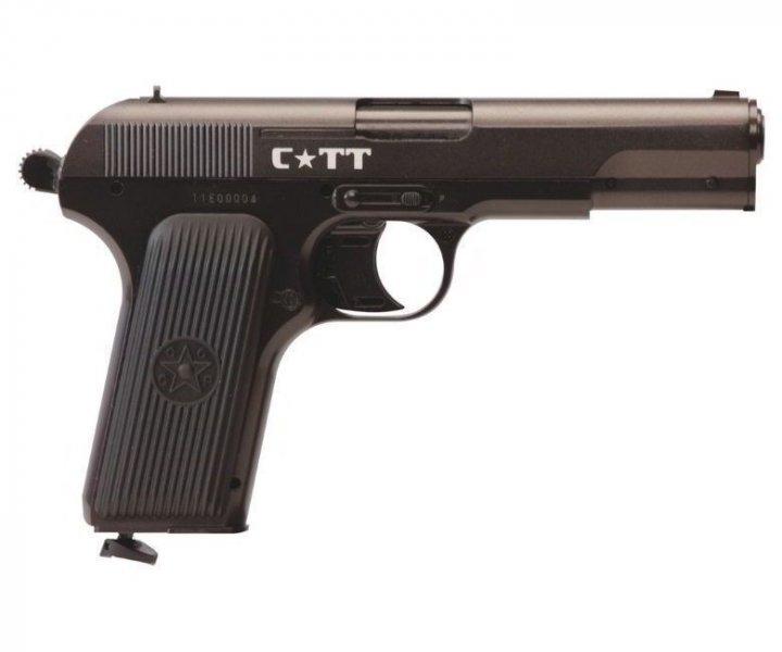 Пневматичний пістолет Crosman C-TT Тульський Токарєв ТТ газобалонний CO2 122 м/с - зображення 1