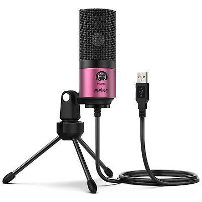 Студійний USB мікрофон fifine K669 Рожевий (164) - зображення 1