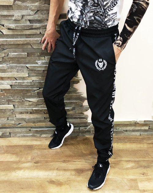 Спортивные штаны (плащевка) Miracle Casual wreath S черные (N05) - изображение 1