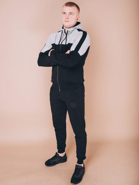 Чоловічий спортивний костюм BERSENSE BRAVE світло-сірий, XL - изображение 1