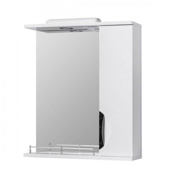 Зеркало в ванную VERONA Грация 50 см. с подсветкой, белое - изображение 1