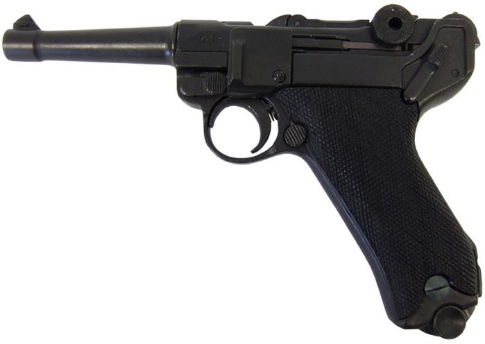 Макет пістолета Denix Парабелум Люгер подовжений 22.5 см (01/1143) - зображення 1