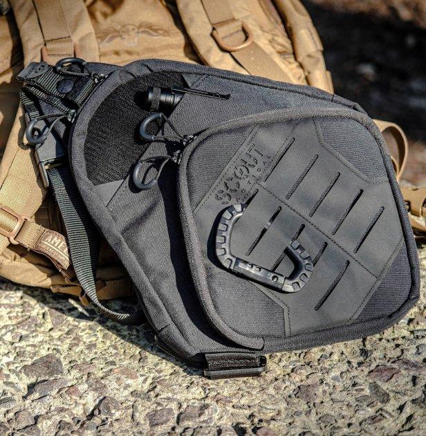 Тактическая сумка-кобура для скрытого ношения Scout Tactical EDC crossbody ambidexter bag black - изображение 1