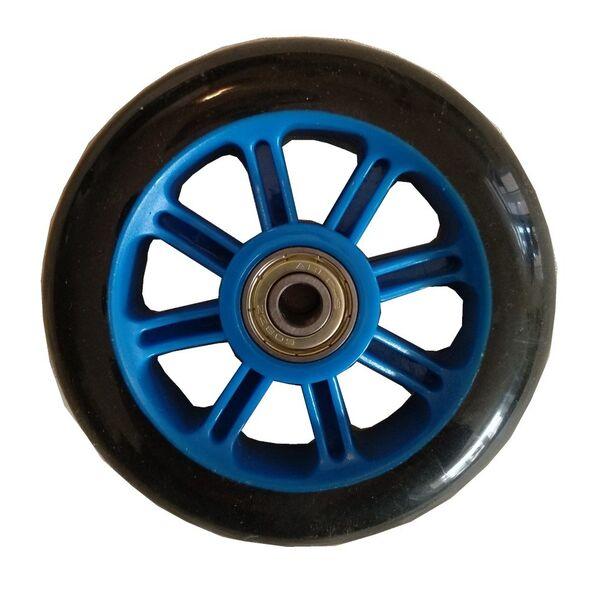 Колесо PU 100 мм для трюковий самокатів Freerider синє - зображення 1