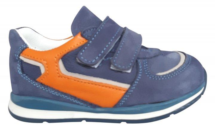 Кроссовки Perlina 4GOLORANGE р. 22 14,2 см Голубой с оранжевым - изображение 1