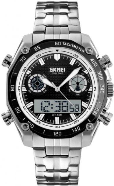 Мужские часы Skmei 1204 Black White Circel BOX (1204BOXBKWHC) - изображение 1
