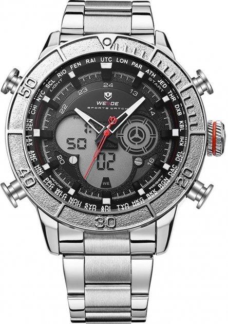 Мужские часы Weide Black WH6308-1C SS (WH6308-1C) - изображение 1