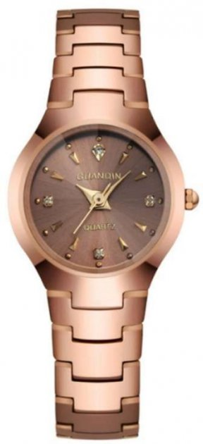 Женские часы Guanqin Gold-Brown-Gold GQ30018 CS (GQ30018GBrG) - изображение 1