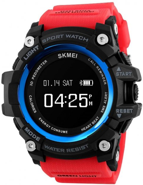 Мужские часы Skmei Smart Pulse 1188 Red BOX (1188BOXRD) - изображение 1