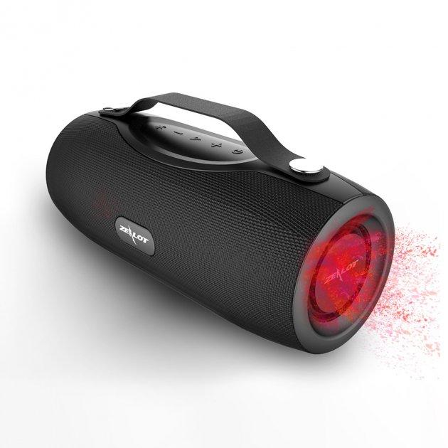 Колонка портативная ZEALOT S29 Black 10 Вт блютуз Батарея 2000 мАч павер банк - изображение 1