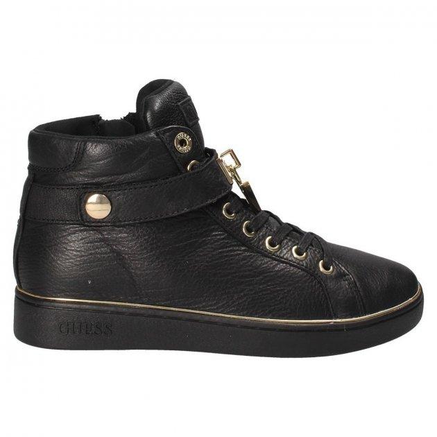 Кеды женские кожаные высокие черные Guess FLBOG4 LEA12 BLACK размер 38 - изображение 1
