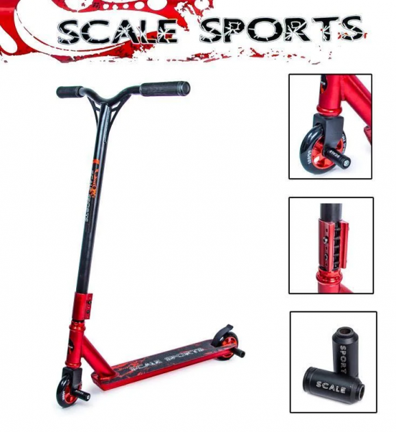 Трюкової самокат Scale Sports STORM червоний - зображення 1