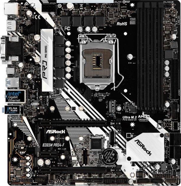 Материнська плата ASRock B365M Pro4-F (s1151, Intel B365, PCI-Ex16) - зображення 1