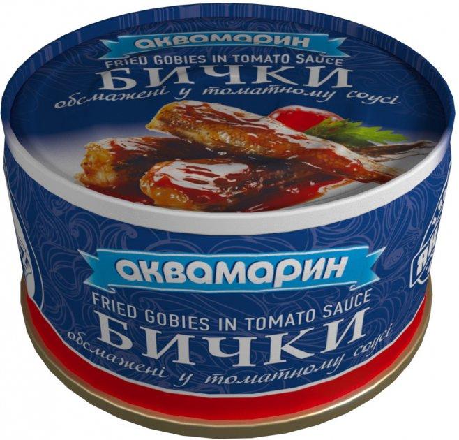 Бички обсмажені в томатному соусі Аквамарин 230 г (4820183773333) - зображення 1