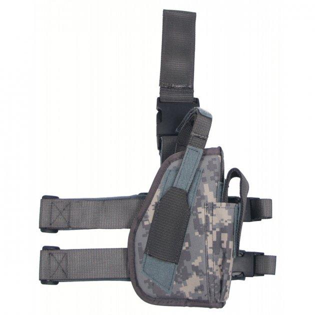 Кобура для пистолета набедренная регулируемая правосторонняя MFH цифровой (пиксельный) камуфляж (30725Q) - изображение 1